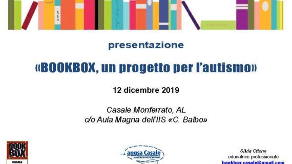 12 dicembre 2019. La presentazione di BOOKBOX a Casale